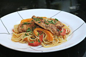 grilled chicken alfredo