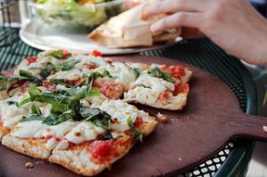 Grilled Chicken Flatbread Pizza