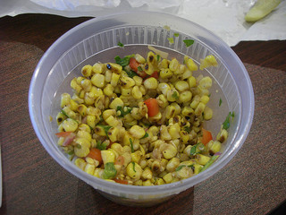 Grilled Corn and Red Pepper Salad