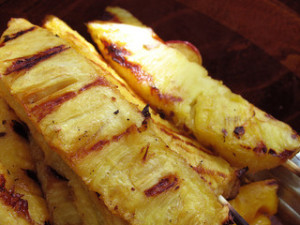 Grilled Butter Rum Pineapple