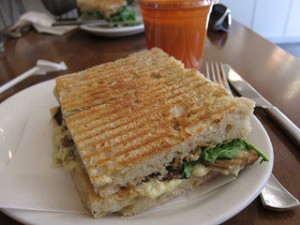 Grilled Portobello Mushroom And Herbed Goat Cheese Panini
