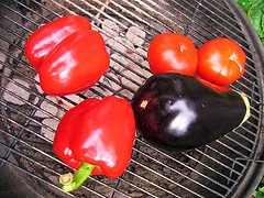 How to Grill Whole Eggplants