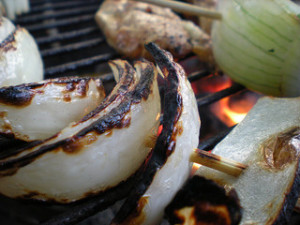 Grilled Onions and Garlic
