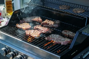 direct grilling on a gas grill